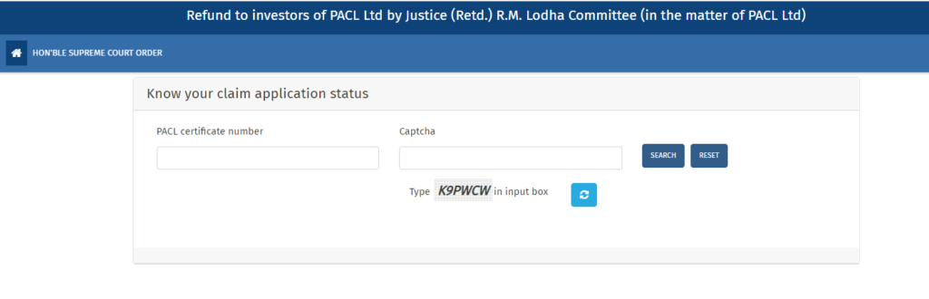 PACL Refund Status